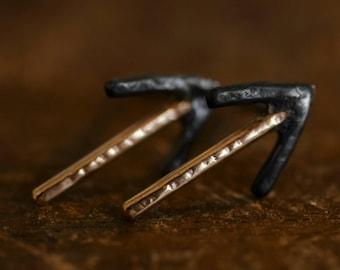 True Aim Studs - Gold Stud Earrings - 14k Yellow Gold - Sterling Silver - Solid Gold - Arrow Stud Earrings - Classic Studs - It Goes On