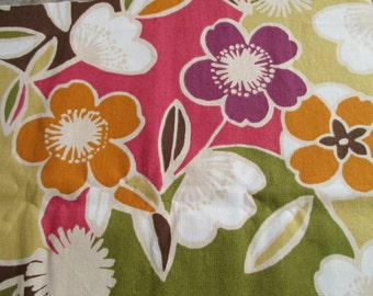 Large Floral Home Decor Fabric - 1 Yard of Fabric