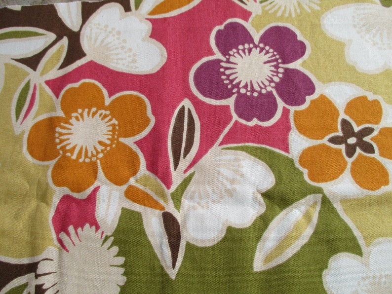 Large Floral Home Decor Fabric 1 Yard Of