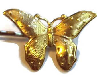 Bobby pin, Gold Butterfly, Woman's Hair Pin
