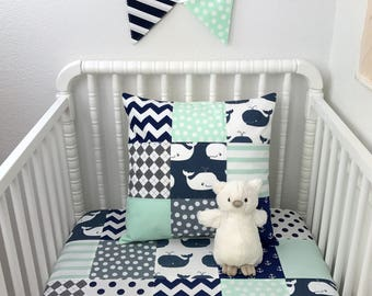 Whale Crib Bedding Etsy