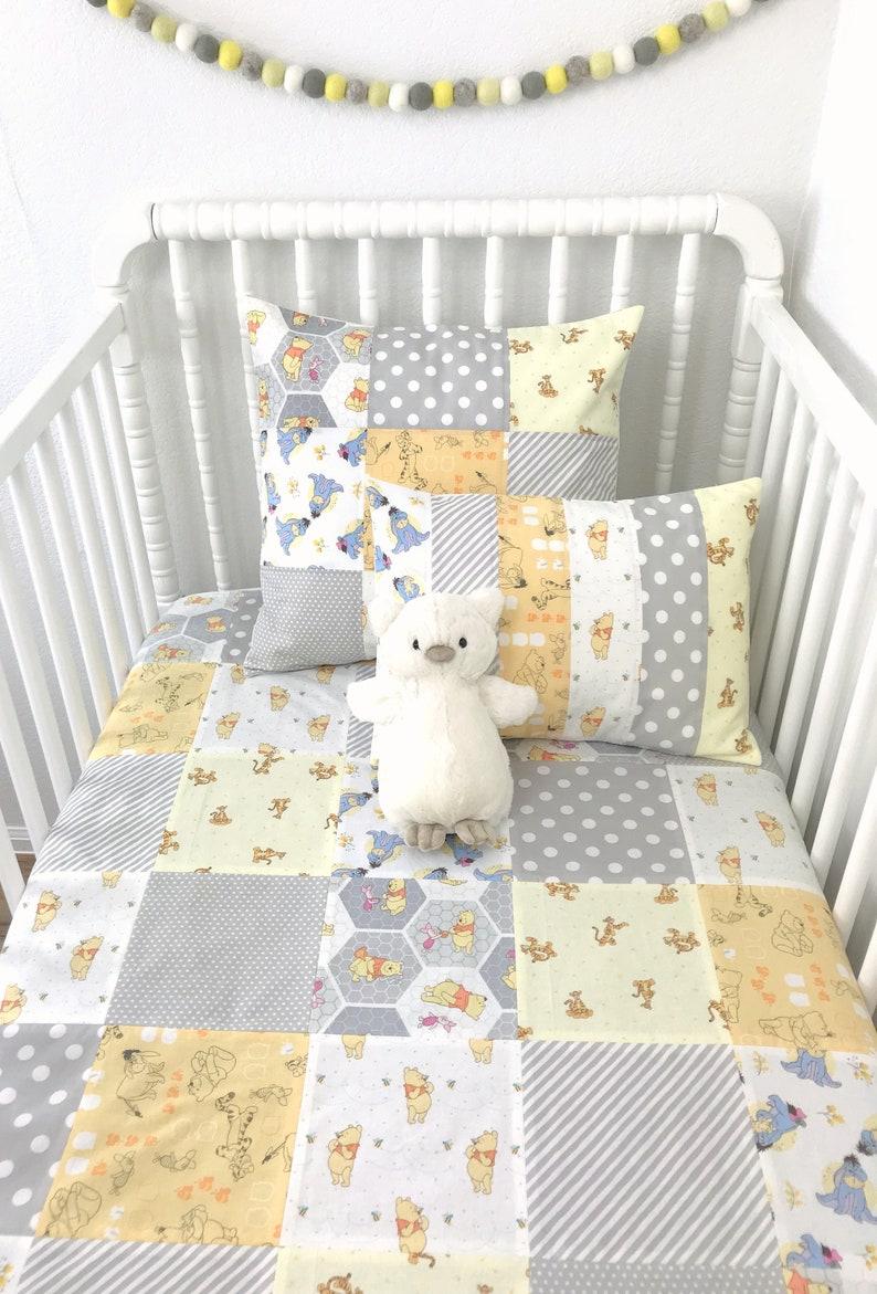 Baby Blanket, Winnie l'ourson décoration chambre de bébé, bébé douche  cadeau - Winnie l'ourson ourson Tigrou Bourriquet Porcinet jaune gris