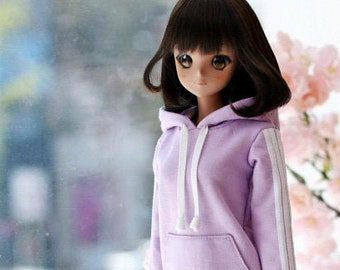 SD13 Girl & Smart Doll Three-Line Hooded One-piece - Purple