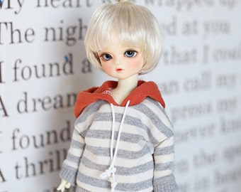 USD Stripe Coloring Hooded T - Gray