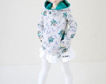 MSD Cutty Skirt Leggins- White