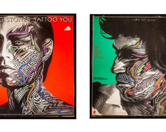 Glittered Rolling Stones Tattoo You Album Keith Etsy