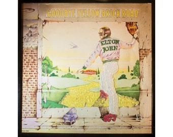 Glittered Elton John Goodbye Yellow Brick Road Album