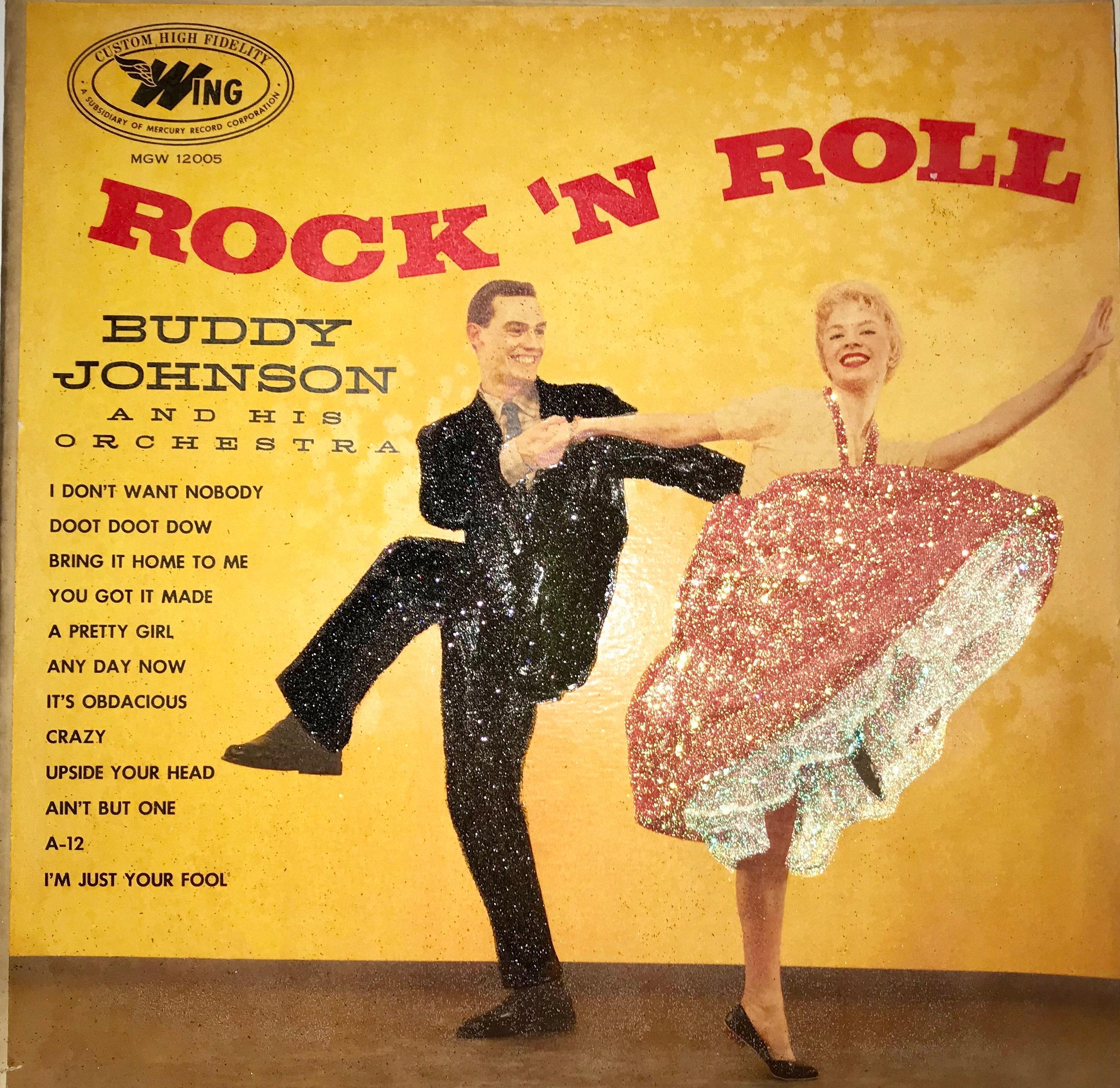 Glittered Rock n Roll Album Cover Wall Art | Etsy