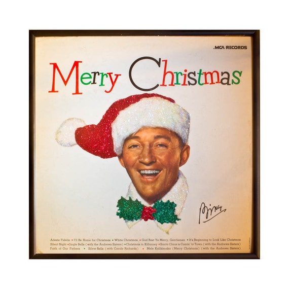 Bing Crosby Christmas Album.Glittered Bing Crosby Christmas Album