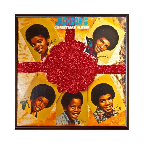 Jackson 5 Christmas.Glittered Jackson 5 Christmas Album