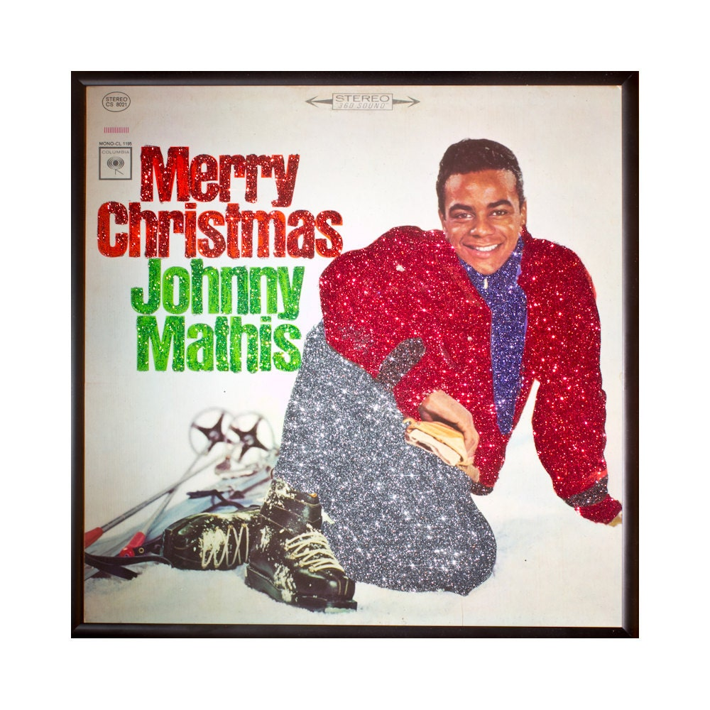 Glittered Johnny Mathis Christmas Album | Etsy