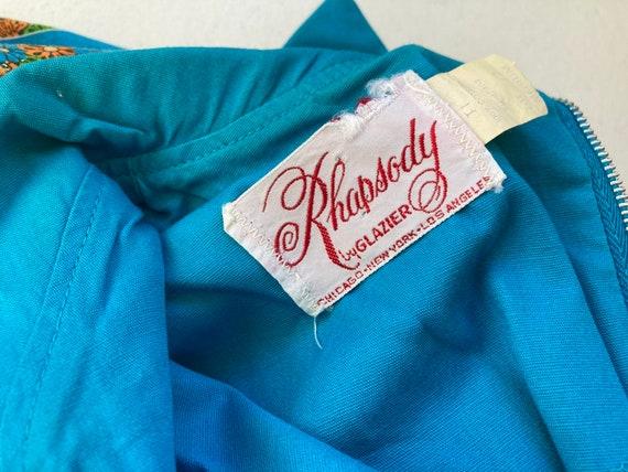 RHAPSODY 1960's Cotton Maxi Dress, Chicken Patchw… - image 6
