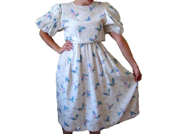 SALE - HANAE MORI Butterfly Dress Vintage Couture,