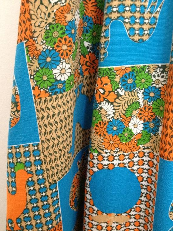 RHAPSODY 1960's Cotton Maxi Dress, Chicken Patchw… - image 8
