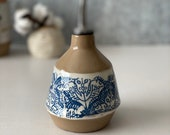 Roller Rabbit  X Etsy, Ceramic cruet, pottery olive oil dispenser
