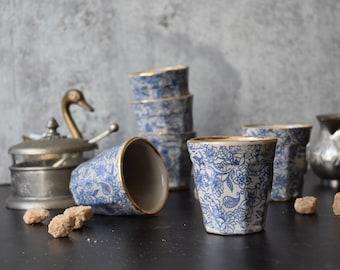 Espresso mug , Ceramic Espresso Cup, 4 oz cup ,  Macchiato cup, coffee lover gifts, Housewarming gift