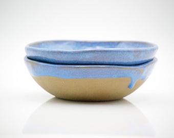 Ceramic bowls - blue pottery - pasta bowls - housewarming gifts - Serving Bowl - rustic bowl - Ceramic Fruit Bowl -Ready to ship-Claylicious