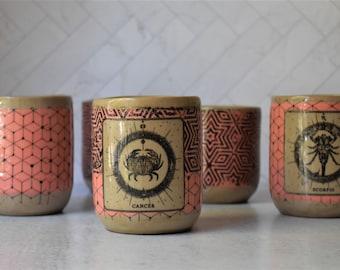 Horoscope sign mug,  Handless mug, Astrology gift, zodiac sign, birthday gift