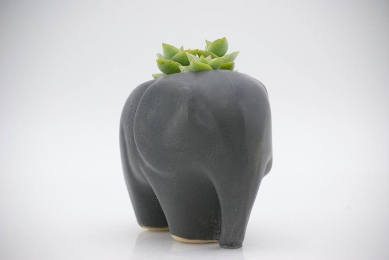Elephant planter for succulents ceramic planters animal image 5