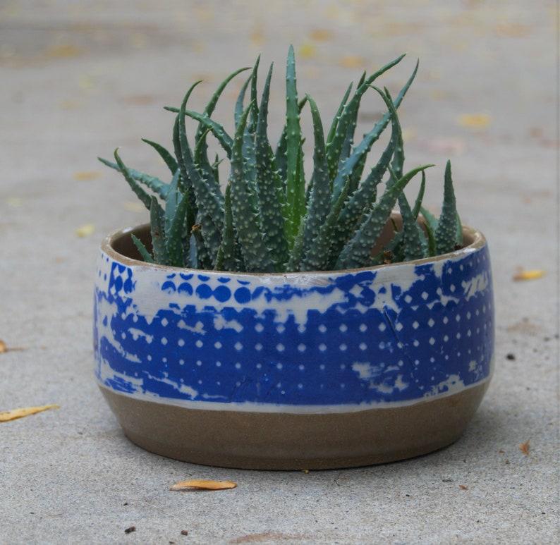 Etsy & Ceramic flower pots Ceramic planters Blue ceramic planter Housewarming gifts Indoor planter Ceramic planter pots  Handmade pottery