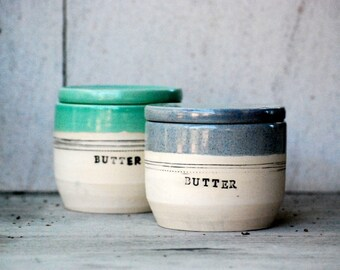French butter dish , handmade pottery, covered butter dish, French butter crock, cooking gift, Housewarming gift, Ceramic butter dish