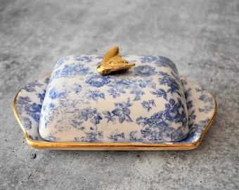 Butter dish with lid, Butter dish,  Covered butter dish, Ceramic pottery, Housewarming gift, Ceramic butter dish