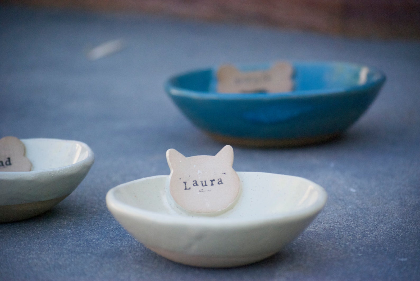Personalized Ceramic Cat Food Bowl