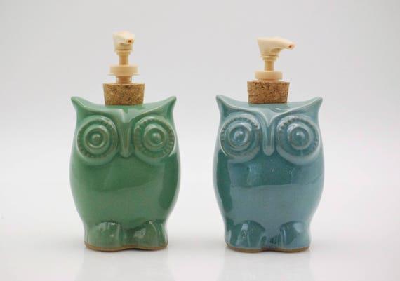 Keramik Seifenspender Küche Hand Seifenspender Eule Dekor   Etsy