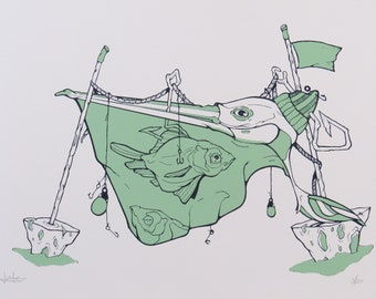 The Fisherman - Screenprint