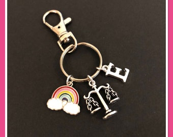 Lawyer law student solicitor gift, personalised justice judge attorney keyring, gift for him her