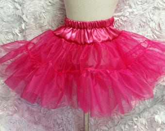0b8d27053 2 Layer Organdy and Satin Fluffy Petticoat, Square Dance Petticoat for  Twirly Skirt Dresses Infant Baby Toddler Girls Can Can Petticoat