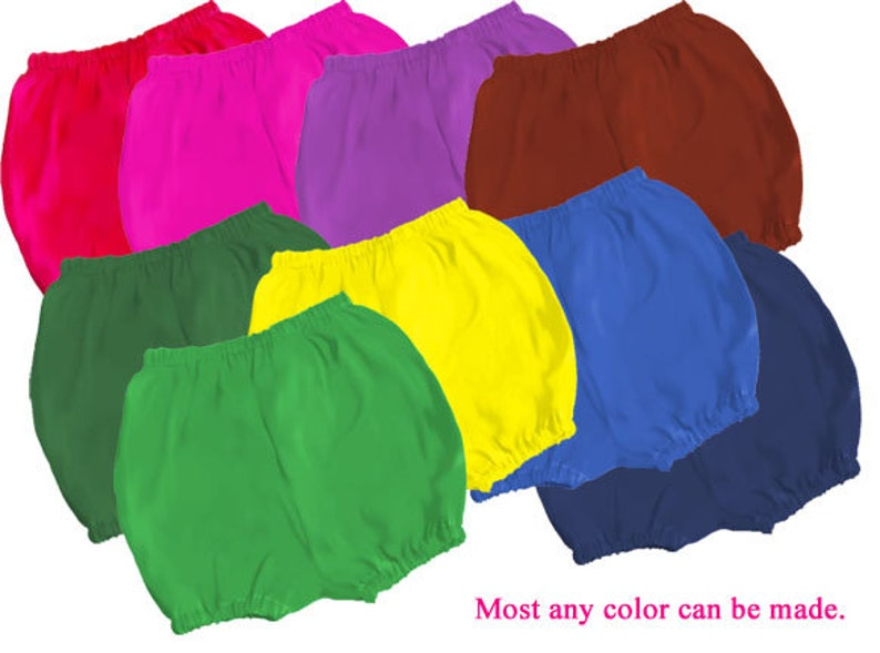 Solid Color Cotton Bloomers Diaper Covers Many colors Baby image 0