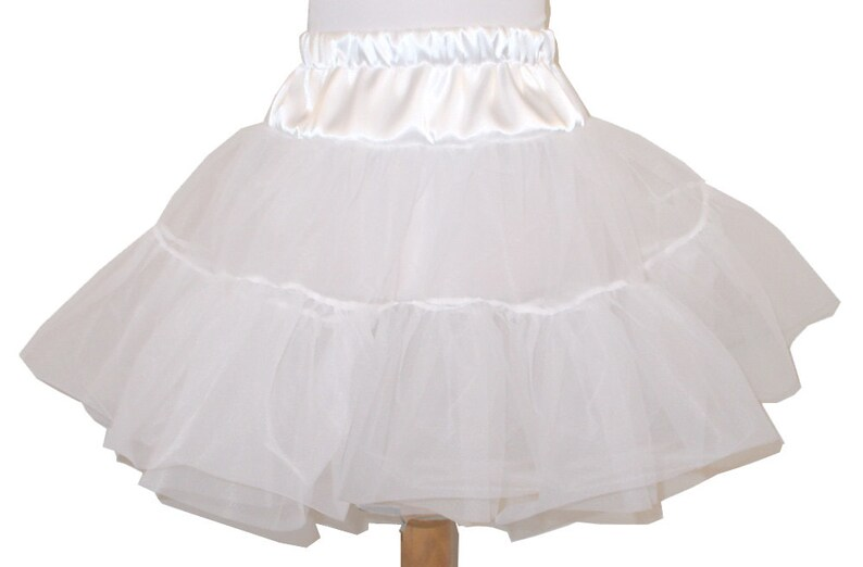 2 Layer Organdy and Satin Fluffy Petticoat Square Dance image 0
