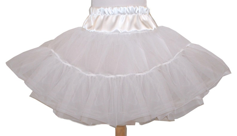 4 Layer Organdy and Satin Fluffy Petticoat Square Dance image 0