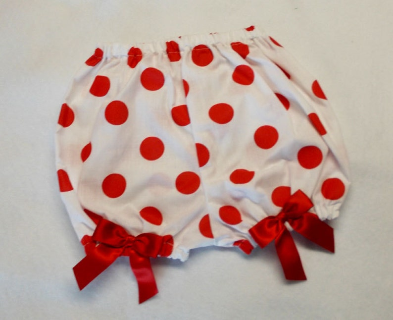 Shirley Temple Costume Polka Dot Print Bloomers Diaper Covers image 0