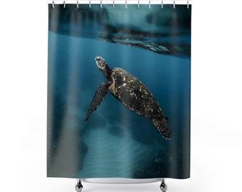 Sea turtle  Shower Curtains / Ocean shower curtain / Sea shower curtain / sea turtle bathroom decor