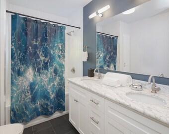 Sea Shower Curtains / ocean shower curtain / deep sea shower curtain / waves shower curtain