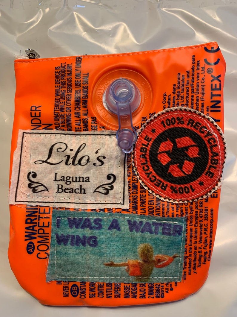 Armbands fun Summer Floatie Water wing swim wings up-cycled to a zipper bag