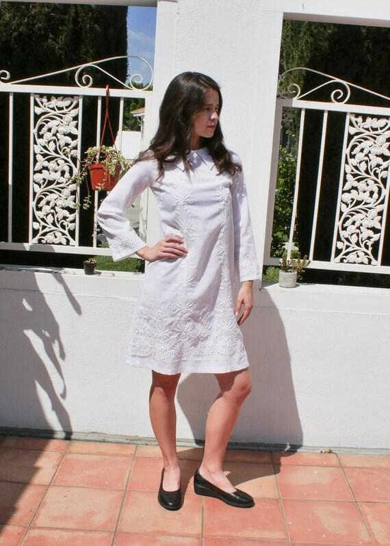 70's Embroidered Boho Mod Dress, 4/6