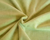 Lime green velour fabric in organic cotton. Solid green velour fabric by 1/2 the meter (50 cm).