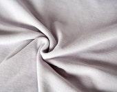 Lavender velour fabric in organic cotton. Organic velvet fabric in mauve (45 cm).