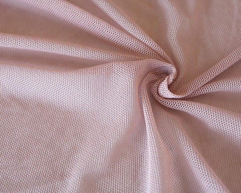Pink organic cotton tulle. Adobe pink cotton tulle by the 1/2 image 0