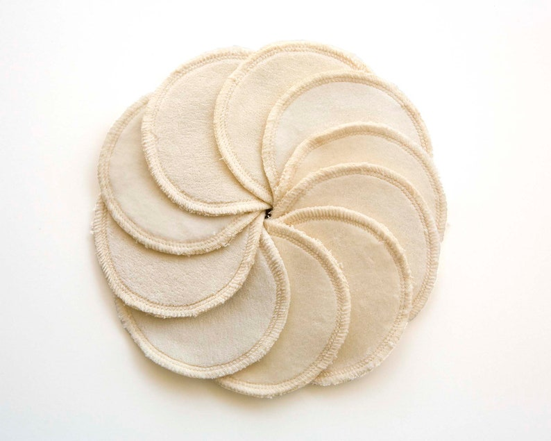Facial rounds in organic cotton. Zero waste rounds in a gift image 0
