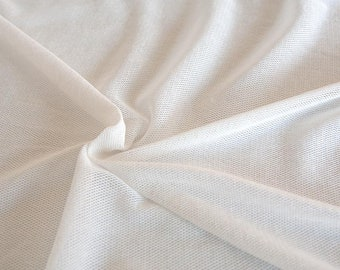 Ivory cotton tulle. Organic cotton soft tulle by the 1/2 meter (50 cm).