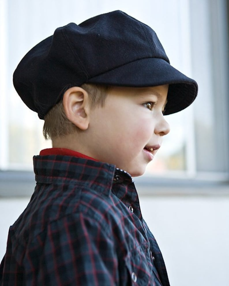 Newsboy cap for kids in organic cotton. Wedding hat for image 0