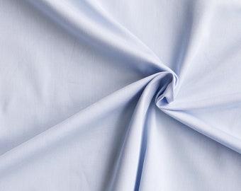 Light blue organic cotton sateen. 146g/m2. 100% Organic Certified Cotton GOTS. Organic sheeting by 1/2 meter.