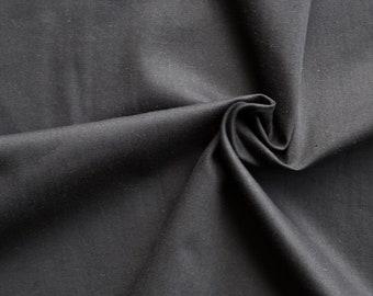 Black organic cotton sateen. 146g/m2. 100% Organic Certified Cotton GOTS. Soft organic cotton by 1/2 meter.