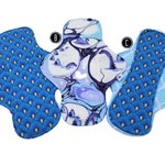 Customized Cloth Pad Cotton Loch Ness, Nessie, Pinkerville, Fantasy Pantyliners, Panty Liner, Pantiliner, Period, Menstrual Pad, Menses