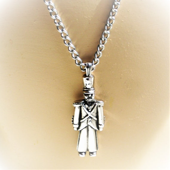 Signed Toy Soldier Necklace Choker Avon 80s Vintage Jewelry Free Shipping  in U.S.