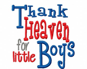 Thank Heaven for little Boys 4x4 5x7 6x10 Bible verse Machine Embroidery Design Instant Download baby shower gift boy newborn nursery infant